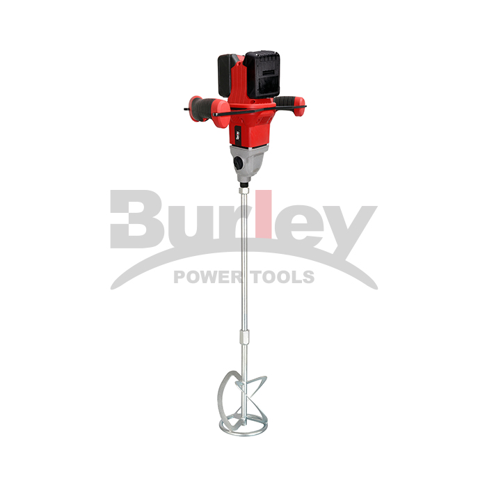 18V*2 Heavy Duty Brushless Motor Cement Concrete Hand Mixer Electric Stirrer Manual Drill High Speed Paint Mixing Machine-BR6309
