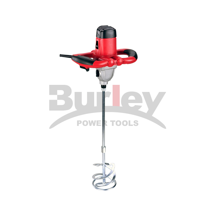 1220W/1400W Electric Mortar Mixer Handheld Concrete Cement Plaster, Adjustable 2 Level/  Variable Speed Mixer Machine With 120Mm/140Mm Mixing Paddle-R6210