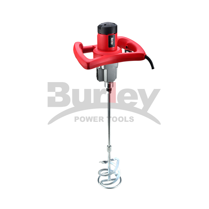 1220W/1400W Electric Mortar Mixer Handheld Concrete Cement Plaster, Adjustable 2 Level/  Variable Speed Mixer Machine With 120Mm/140Mm Mixing Paddle-R6202