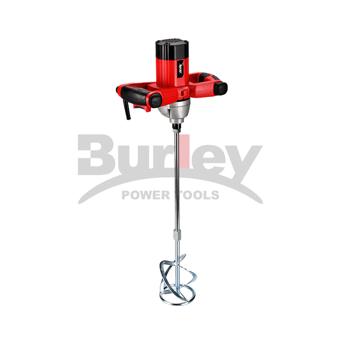 1200W Electric Mortar Mixer Handheld Concrete Cement Plaster, Adjustable 6 Speed Mixer Machine With 120Mm Mixing Paddle With Soft Grip-R6122
