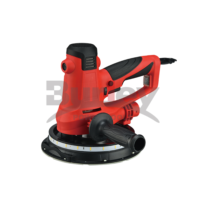 750W Electric Drywall Sander With Automatic Vacuum Dust Collection System, 2 strips LED Lights, 6 Pcs Sanding Discs and a Dust Bag, Detachable Handle, 6 Variable Speeds-R7503