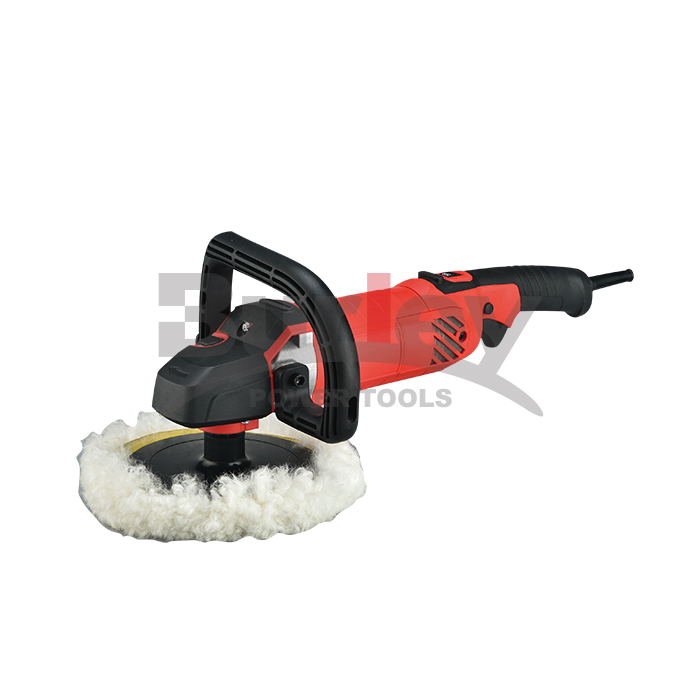 Buffer Polisher 180mm 1200W With 6 Variable Speeds, Digital Screen, Lock Switch, Detachable Handle, Ideal For Car Sanding-R7191