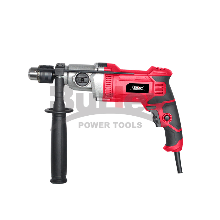 Corded Impact Drill 1100W nga adunay Lock-on button, 0-3000 RPM, gilakip ang Gauge sa giladmon, Hammer ug Drill 2 Function sa 1, Variable Speed ​​alang sa Drilling Wood, Steel-R8803